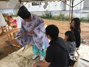 石川町分譲地で地鎮祭