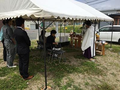 函館地区 1棟目の新商品New THE HOME 地鎮祭