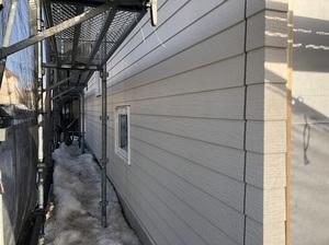 建築中のカナダ輸入住宅 中島町1