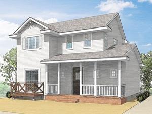 もうすぐ完成 中島町のカナダ輸入住宅