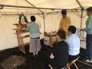本日 地鎮祭でした!(函館市上野町)