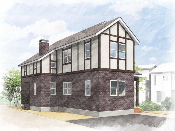 建築中 モデルハウス 5月オープン予定! 【 ハーフティンバー 】