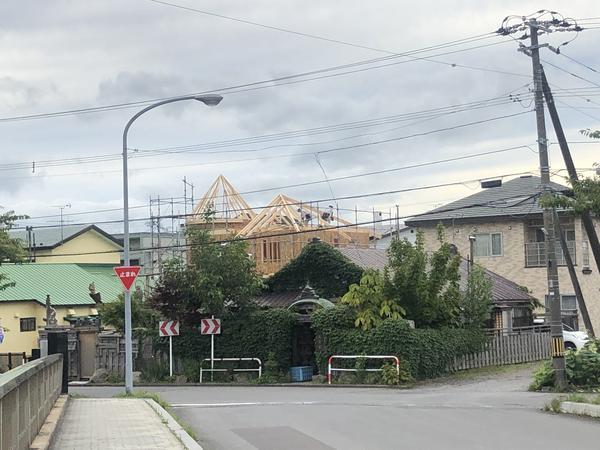 お城のようなお家 函館市白鳥町