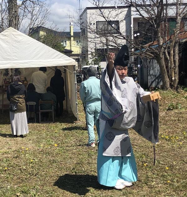 地鎮祭 これから工事が始まります。