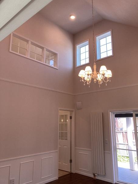 開放的な空間 平屋 勾配天井のお家